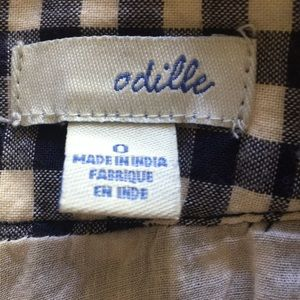 Anthropologie Skirts - EUC Odille Ring the Wave Navy Gingham Skirt | 0